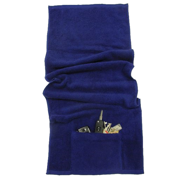 Exercise Towel With Pocket: Gym Sports Towels With Pocket 'n Zip
